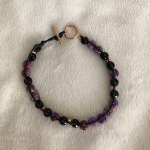 Jewelry - black faucet crystal multi-colored bracelet
